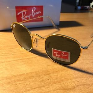 Round Ray-Ban sunglasses - Gold frames